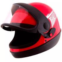 Capacete pro tork sport moto vermelho tam 60 -