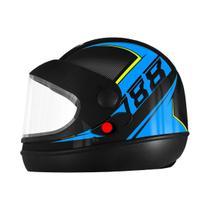Capacete Pro Tork Super Sport Moto 2019 Automático Preto/Azul -