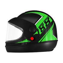 Capacete Pro Tork Super Sport Moto 2019 Automático Preto/Verde -