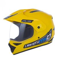 Capacete protork liberty mx pro vision tamanho 60 amarelo - Breder Moto