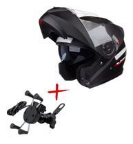Capacete Robocop Com Suporte Garra Kit Motoboy 58 - Texx