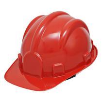 Capacete Segurança EPI Obra Deltaplus Vermelho ProSafety - Pro Safety