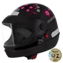 Capacete Sport Moto For Girls Preto Pro Tork -
