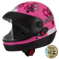 Capacete Sport Moto For Girls Rosa Pro Tork -