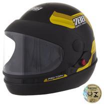 Capacete Sport Moto Preto E Amarelo Pro Tork -