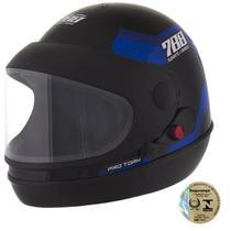 Capacete Sport Moto Preto E Azul Pro Tork -