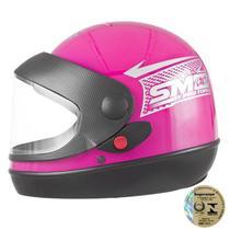 Capacete Sport Moto Rosa Pro Tork -