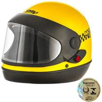 Capacete Sport Moto Táxi Amarelo Pro Tork -