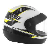 Capacete Super Sport Moto 788 Branco e Amarelo Pro Tork -