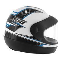 Capacete Super Sport Moto 788 Branco e Azul Pro Tork -