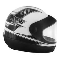 Capacete Super Sport Moto 788 Branco e Cinza Pro Tork -