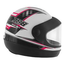 Capacete Super Sport Moto 788 Branco e Rosa Pro Tork -