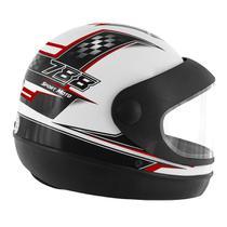 Capacete Super Sport Moto 788 Branco e Vermelho Pro Tork -