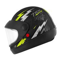 Capacete Super Sport Moto 788 Preto e Amarelo Pro Tork -