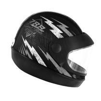 Capacete Super Sport Moto 788 Preto e Prata Pro Tork -