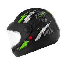 Capacete Super Sport Moto 788 Preto e Verde Pro Tork -