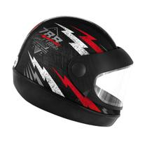 Capacete Super Sport Moto 788 Preto e Vermelho Pro Tork -