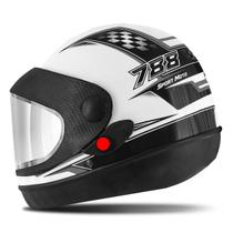 Capacete super sport moto branco - Pro Tork