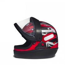 Capacete Taurus San Marino Grafic vermelho ( automático ) -