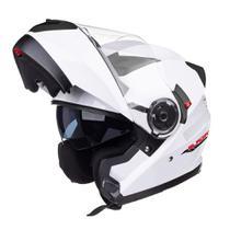 Capacete Texx escamoteável Articulado Gladiator Branco tam60 -