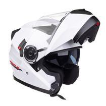 Capacete Texx G2 Gladiator Branco Brilhante Escamoteável -