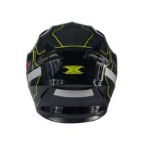 Capacete texx g2 panther verde 58 -