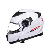 Capacete Texx Gladiador Robocop Escamoteavel Branco -