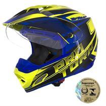 Capacete Th1 Vision Adventure Amarelo E Azul Pro Tork -