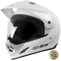 Capacete Top Helmet Vision Th1 Branco Pro Tork -