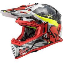 Capacete Trilha Ls2 Fast Mx437 Crusher Offroad Motocross -