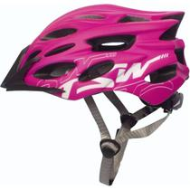 Capacete Tsw Elite - Rosa Com Branco Fosco - 57 a 60 cm -