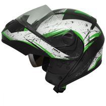 Capacete u-rb2 wolf preto f/verde 58 - Peels