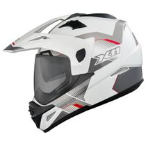 Capacete X11 Crossover X3-N SV Branco Neon (T-58)