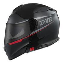Capacete X11 Turner Articulado Preto Moto  Motociclista (T-58) -
