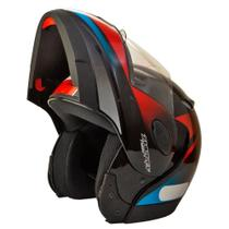 Capacete zarref v4 racer preto/azul 56 -