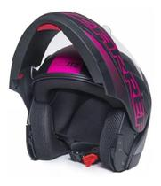 Capacete Zarref V5 Neon 58 PRET F/ROSA - Taurus