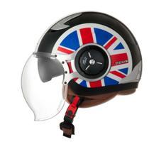 Capacete Zeus 218DA UK Flag Solid -