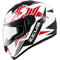 Capacete Zeus 811 Solid White Al 28 Black -