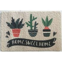 Capacho Home Sweet Home em PVC  - Colorido - Bright