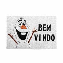 Capacho Olaf Frozen Disney 40x60cm Branco - Beek