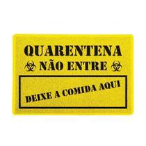 Capacho Quarentena Deixe a Comida Amarelo 0,40X0,60M - Beek -