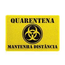 Capacho Quarentena Mantenha Distância Amarelo 0,40X0,60M - Beek -