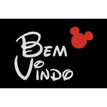 Capacho Tapete Bem Vindo, Mickey ,Disney - 40x60cm - Zap Tapetes