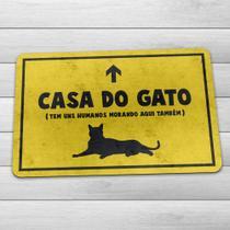 Capacho Tapete Decorativo Eco Slim 3mm Casa do Gato - Yaay