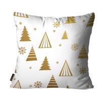 Capas para Almofada Premium Cetim Mdecore Natal Arvore de Natal Branca -