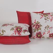 Capas para Almofadas Decorativas 4 Peças Vermelho - Guilherme Confecções