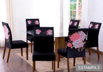 Capas Para Cadeira com Estofado 4 Lugares Diversas Estampas - Casa Império