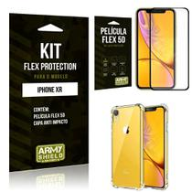 Capinha Anti Impacto Iphone XR + Película Flex 5D - Armyshield -