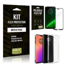 Capinha Anti Impacto Motorola MOTO G7 PLUS + Película Flex 5D - Armyshield -
