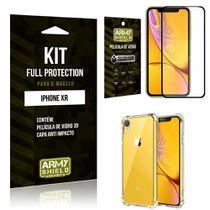 Capinha Anti Impacto + Película de Vidro 3D Iphone XR - Armyshield -